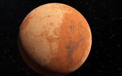 Nálepka Mars vědecký ilustrace - planetární krajina