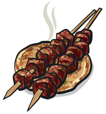 Nálepka maso kebab