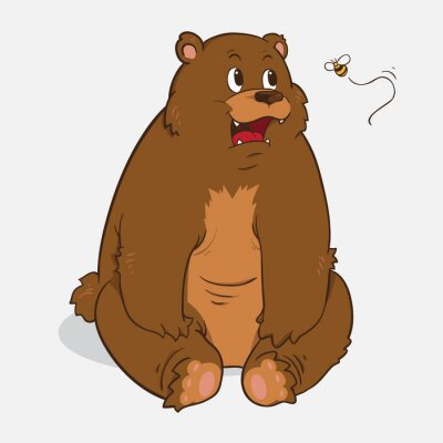 Nálepka Medvěd hnědý