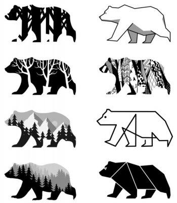 Nálepka medvědi set