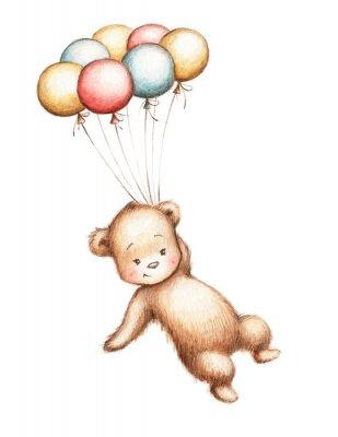 Nálepka Medvídek s balónky