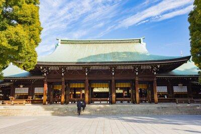 Nálepka Meiji Jingu svatyně, v Tokiu, Japonsko