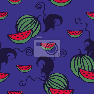 Meloun doodle vzor