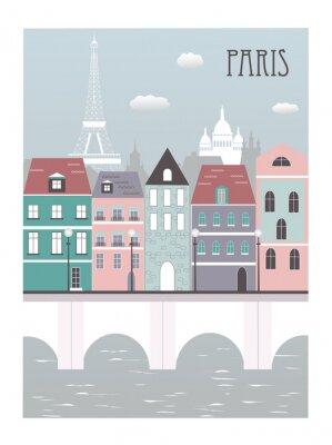 Nálepka Město Paříž.