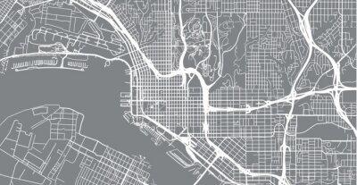Nálepka Městská vektorová mapa města San Diego, Kalifornie, Spojené státy americké