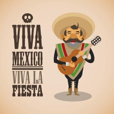 Nálepka Mexické kultuře výprava