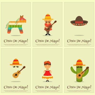 Nálepka mexické Plakáty