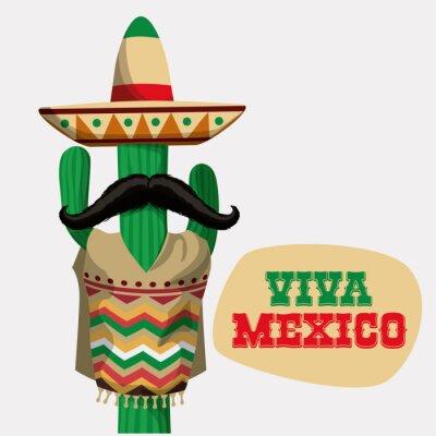Nálepka Mexiko designu.