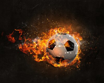 Nálepka Míč hoří v ohni