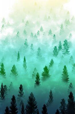 Nálepka misty forest terén