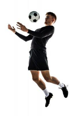 Nálepka Mladá blondýnka muž hrající fotbal