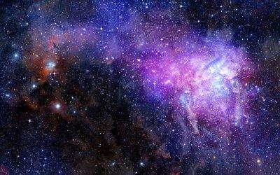 Nálepka mlhovina oblak plynu v hlubokém vesmíru