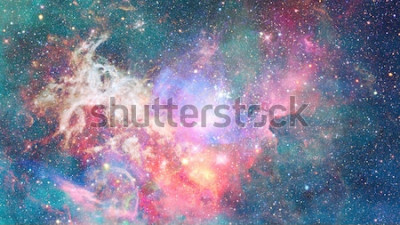 Nálepka Mlhovina ve vesmíru. Kosmické pozadí. Prvky tohoto obrázku poskytnuté NASA.