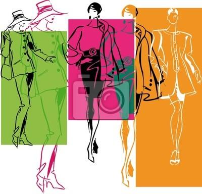 Móda Ženy ilustrace