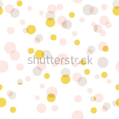 Nálepka Moderní abstraktní vektor velké konfety pozadí. Vzor bezešvé barevné tečky.