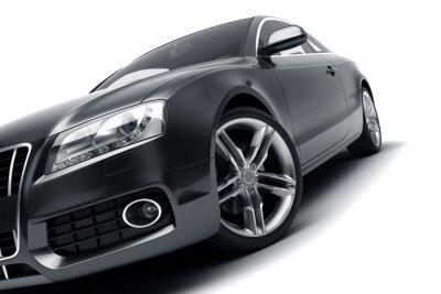 Nálepka Moderní černé auto