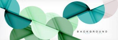 Nálepka Moderní geometrické abstraktní pozadí - kruhy. Obchodní nebo technologické prezentace šablony návrhu, brožura nebo leták vzor nebo geometrické web banner