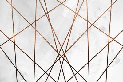Nálepka Moderní moderní krémová měď pozadí. Luxusní dívčí textura. Vynikající a čisté pozadí s geometrickými a uměleckými prvky.
