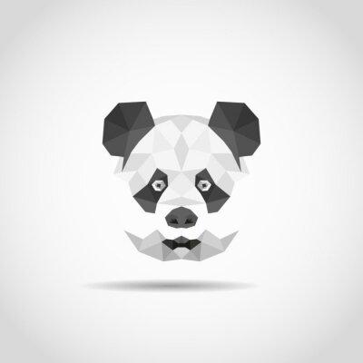 Nálepka Moderní panda v polygonální stylu