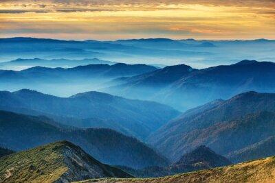 Nálepka Modré hory a kopce
