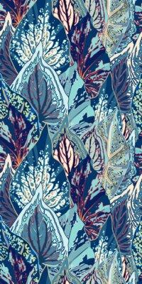 Nálepka Modré Leaf Vector bezproblémové ilustrace