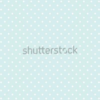 Nálepka modré polka dot v2 pozadí