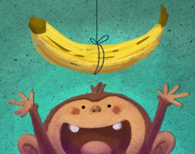 Nálepka mono y plátano