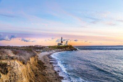 Nálepka Montauk Point Light, Lighthouse, Long Island, New York, Suffolk