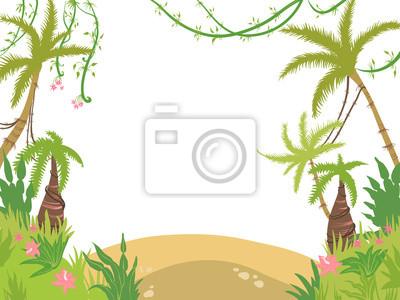 moře ostrov rám palmy