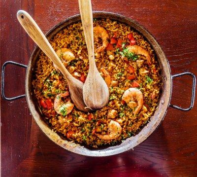 Nálepka mořské plody paella