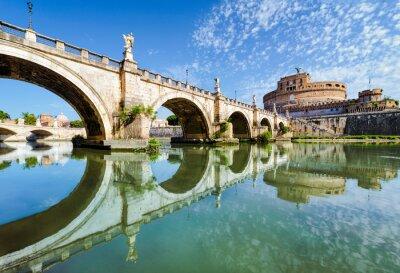 Nálepka Most a hrad Sant Angelo, Řím
