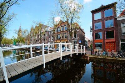 Nálepka Most přes kanály Delft, Nizozemsko