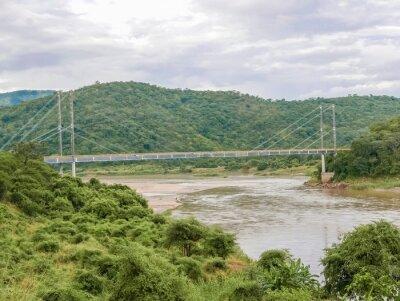 Nálepka Most přes řeku Luangwa v Zambii