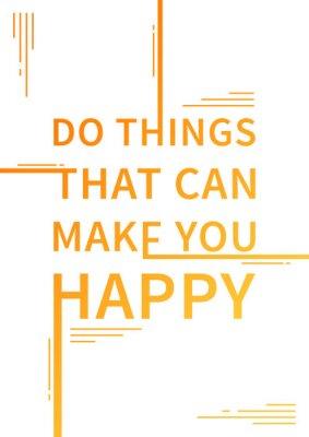 Nálepka Motivační citát. Pozitivní afirmace. Vektor typografie návrh koncepce ilustrace.