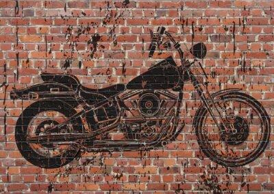 Nálepka Moto sportster grunge