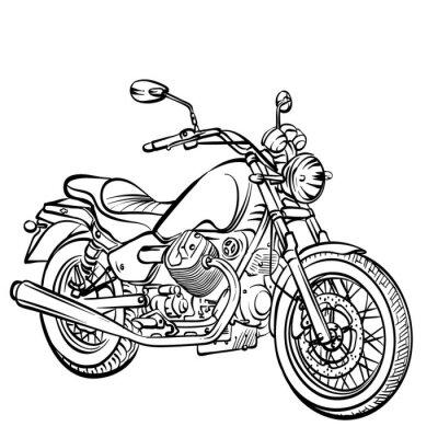 Nálepka Motocykl classic