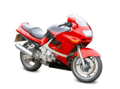 Nálepka motocykl izolované
