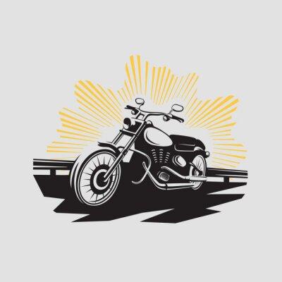 Nálepka Motocykl štítek