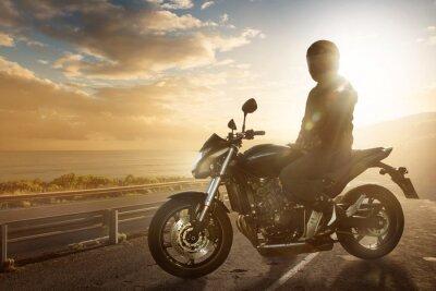 Nálepka Motorbike on an Ocean Road