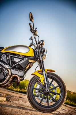 Nálepka Motorcycle on the road