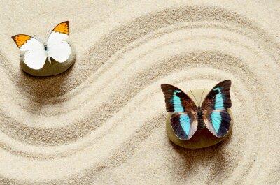 Nálepka Motýl na písku