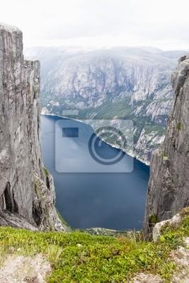 Mountain Kjerag v Norsku