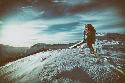 Nálepka Mountain Walking