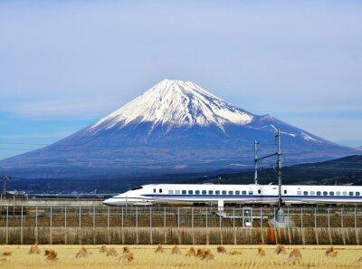 Nálepka Mt. Fuji a Bullet Train