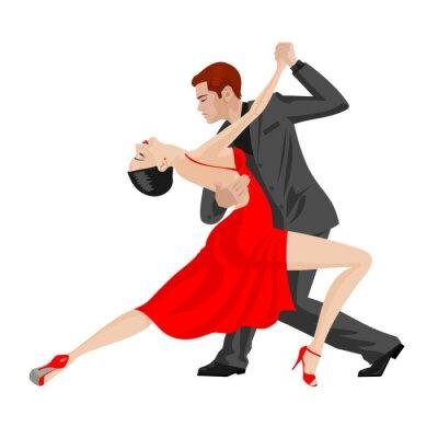 Nálepka muž a žena tančí