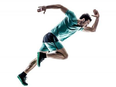Nálepka Muž běžec běžec běží izolované