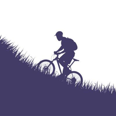 Nálepka muž na siluetu na kole