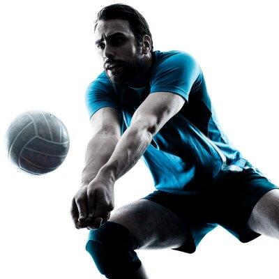 Nálepka muž volejbal silueta