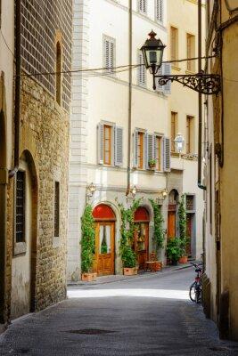 Nálepka Na ulici v historickém centru Florencie, Itálie Via Lambertesca