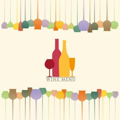 Nálepka Nabídka vín